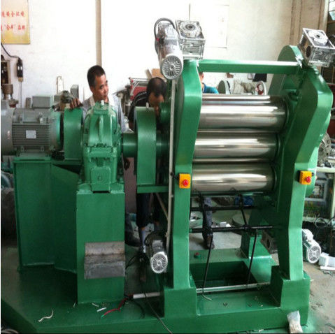 Four / Five / Six Roll Calendering Machine , Pvc Sheet Production Line